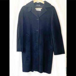 Max Mara Black Wool Coat 6
